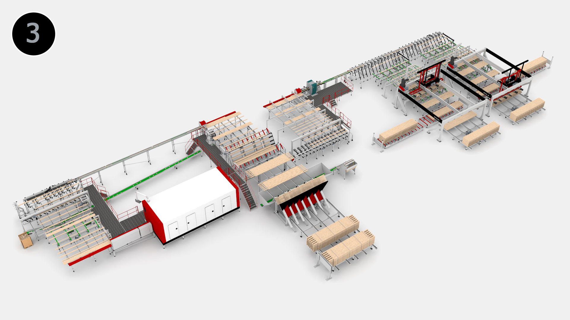 high speed grading and sorting line